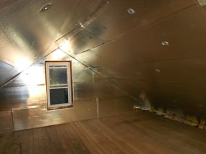A Omaha attic with SuperAttic installed.